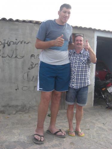 Ninão. Brasiliens højeste og nr.3 i verden. 2.37 m