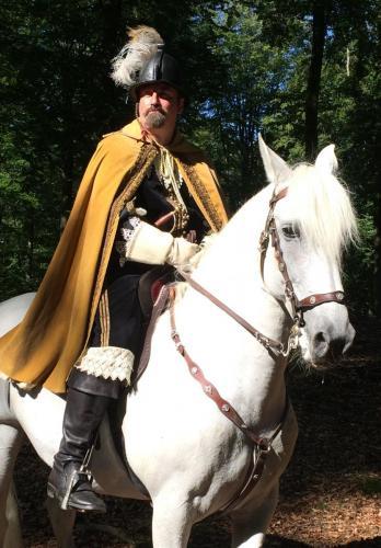 I Gribskov med hesten Flamenco - Pura raza espanola